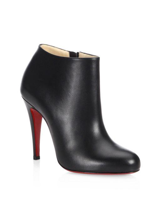Christian Louboutin   Black Nappa Shiny Leather Booties   Lyst