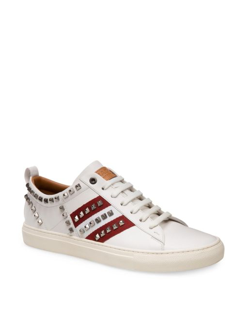 Bally | White Helvio Studded Low Top Sneakers for Men | Lyst
