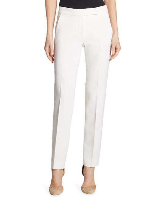 Max Mara | White Biella Wool Pants | Lyst