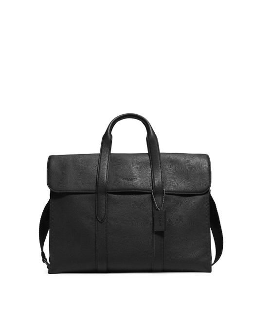COACH | Black Pebbled Metro Leather Shoulder Bag | Lyst