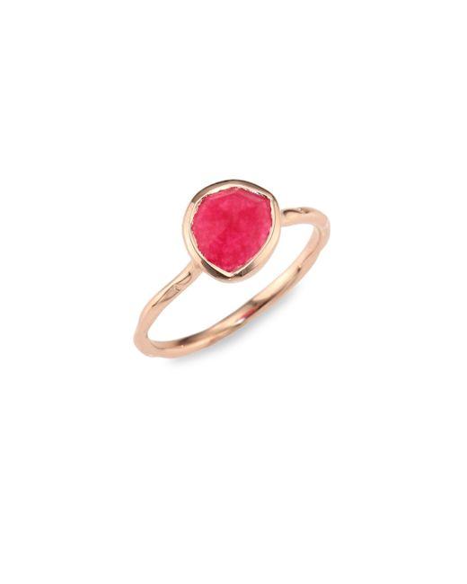 Monica Vinader | Siren Nugget Pink Quartz Cocktail Ring | Lyst