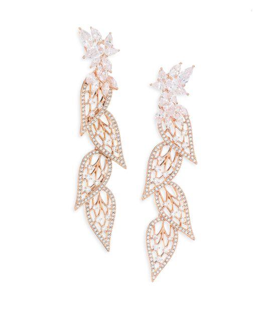 Adriana Orsini   Metallic Magnolia Crystal Linear Earrings   Lyst