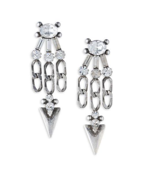 DANNIJO | Metallic Sofi Crystal Chandelier Earrings | Lyst