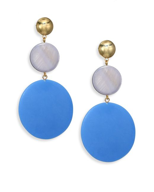 Elizabeth and James   Blue Carter Mother-of-pearl Drop Earrings   Lyst