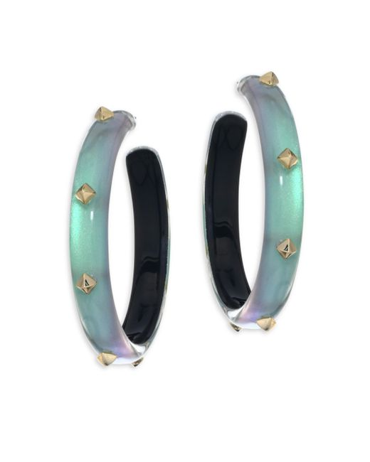 Alexis Bittar | Green Lucite Studded Hoop Earrings/2 | Lyst