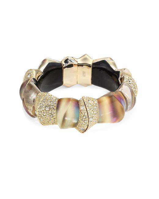 Alexis Bittar   Multicolor Lucite Crystal-encrusted Sculptural Hinge Bracelet   Lyst