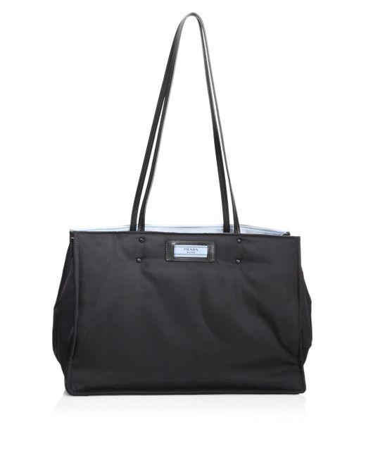 Prada | Black Nylon Shopping Bag | Lyst