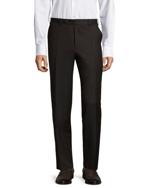 Canali | Brown Twill Wool Trousers for Men | Lyst