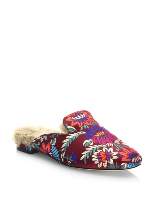 Joie | Multicolor Jean Brocade & Calf Hair Loafer Slides | Lyst