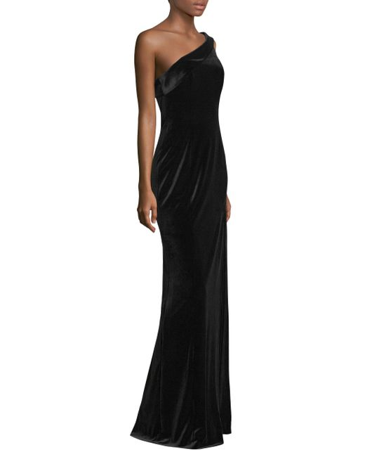 Black Halo | Black Dolan One-shoulder Gown | Lyst