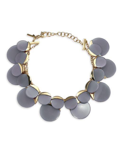 Lele Sadoughi | Gray Concrete Jungle Disc Necklace | Lyst