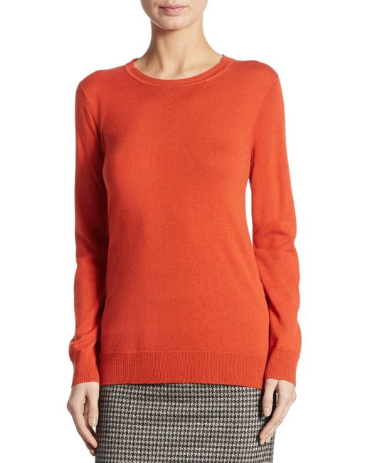 Weekend by Maxmara | Red Rib Knitted Sweater | Lyst