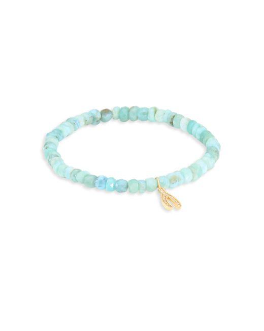 Sydney Evan | Blue Anniversary Wishbone Diamond & Bead Bracelet | Lyst