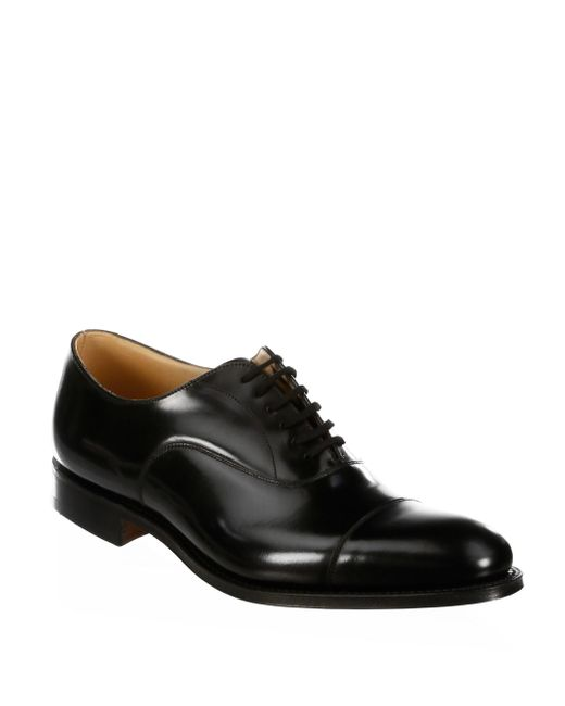 Church's   Black Dubai Leather Oxfords for Men   Lyst