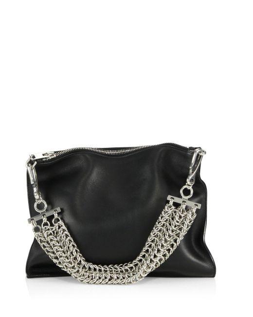 Alexander Wang | Black Genesis Leather Chain-handle Bag | Lyst