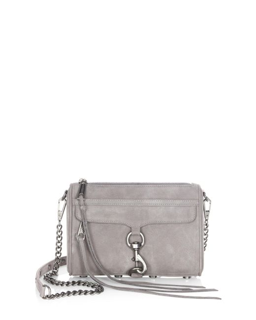 Rebecca Minkoff | Gray Mac Nubuck Leather Mini Bag | Lyst