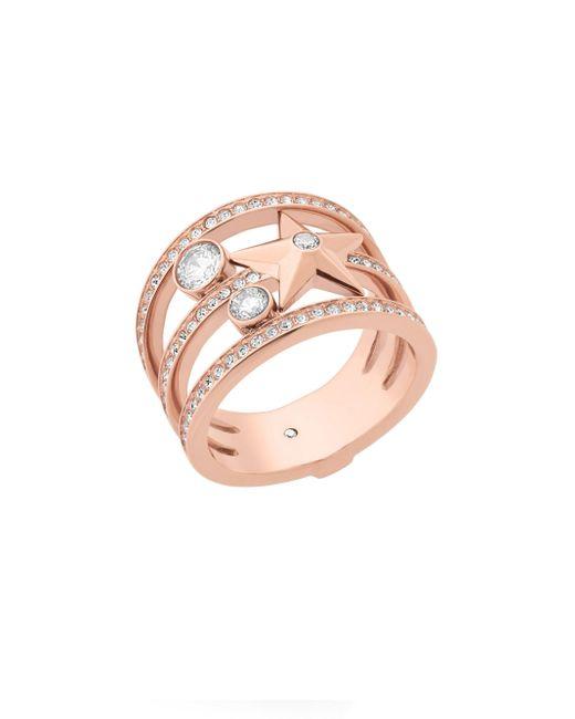 Michael Kors | Pink Celestial Crystal Star Ring | Lyst