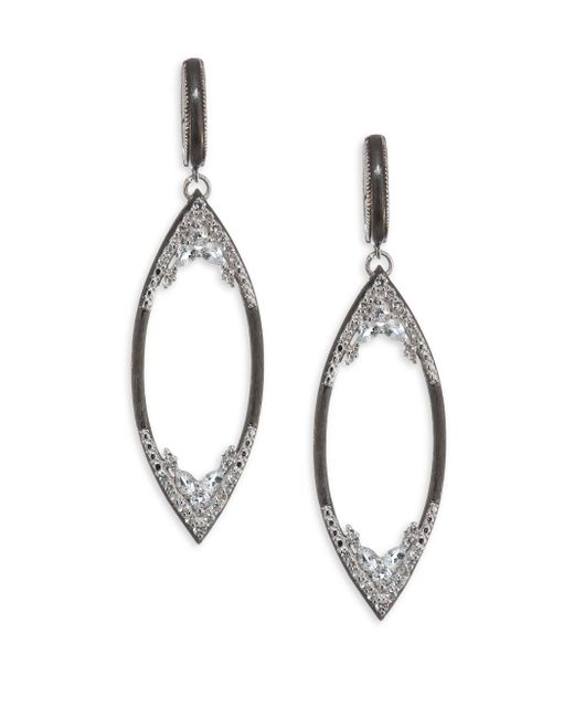Jude Frances | Metallic City Lights Open Marquis Pave Earrings | Lyst