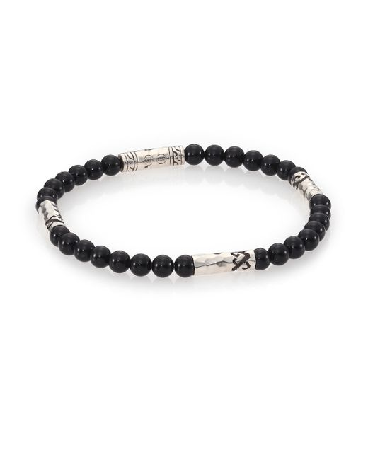 John Hardy | Mult-station Black Onyx Bracelet for Men | Lyst
