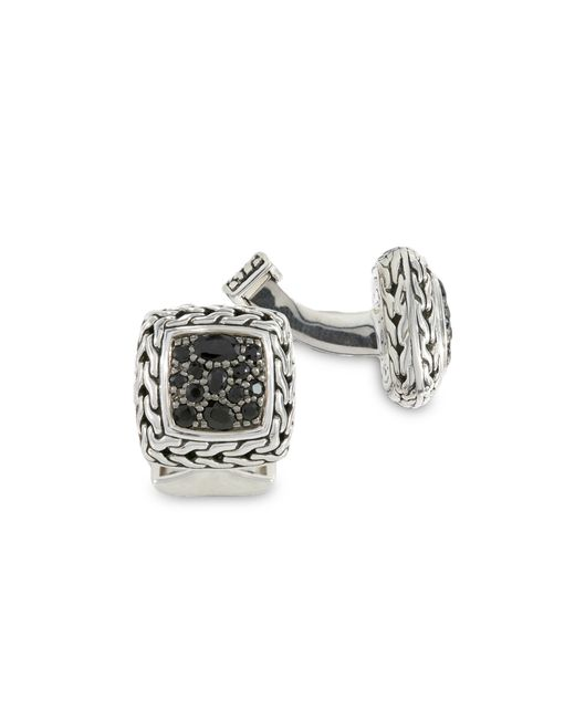 John Hardy | Metallic Sapphire Square Cuff Links for Men | Lyst