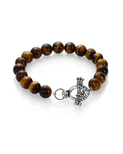 King Baby Studio | Brown Tiger's Eye Beaded Bracelet for Men | Lyst