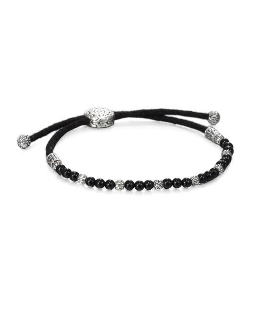 John Hardy | Black Beaded Cord Bracelet | Lyst