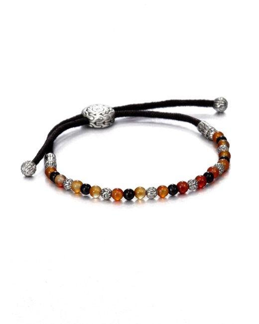 John Hardy | Black Beaded Cord Bracelet for Men | Lyst