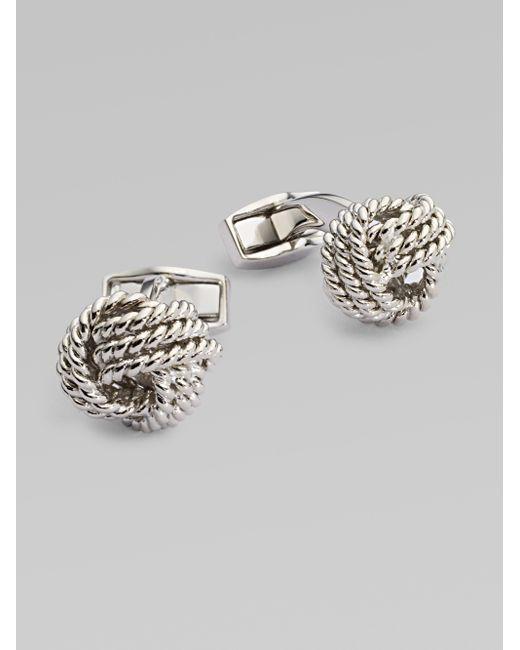 Tateossian | Metallic Round Knot Cuff Links for Men | Lyst