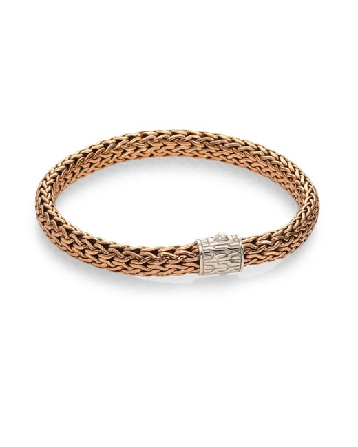 John Hardy | Metallic Men's Square Small Chain Bracelet for Men | Lyst