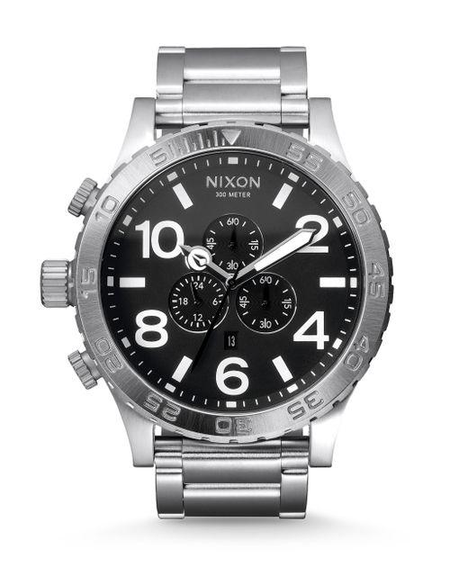 Nixon   Metallic Chronograph Stainless Steel Bracelet Watch   Lyst