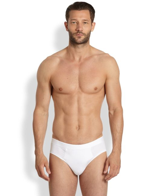 Derek Rose | White Jack Stretch Pima Cotton Briefs for Men | Lyst