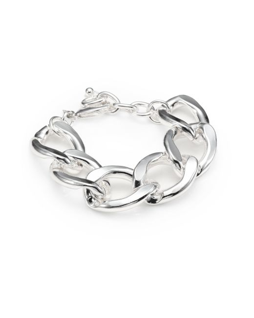 Kenneth Jay Lane | Metallic Curb Chain Bracelet | Lyst