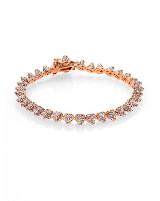 Eddie Borgo   Pink Pave Crystal Mini Cone Bracelet/rose Goldtone   Lyst