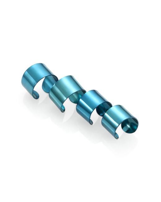 Maison Margiela | Knuckle Duster Ring Set/blue | Lyst