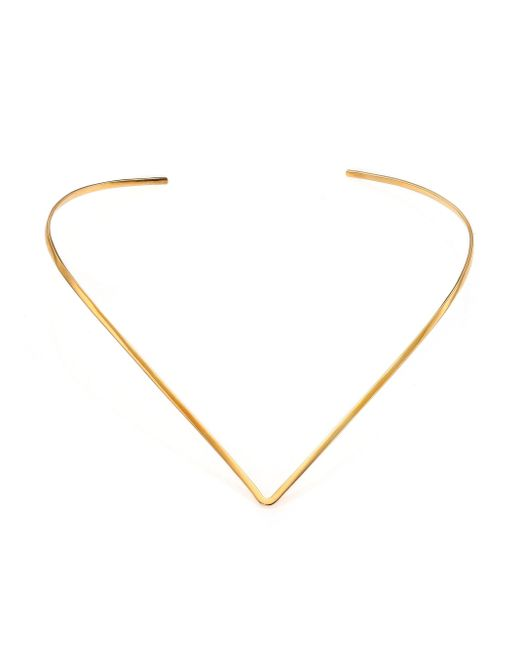 Jennifer Zeuner | Metallic Tilda V Choker Necklace | Lyst