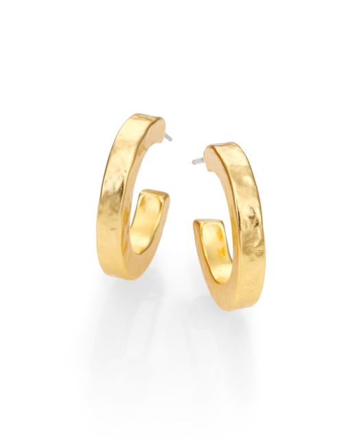 Stephanie Kantis | Metallic Nugget Small Hoop Earrings/0.5 | Lyst