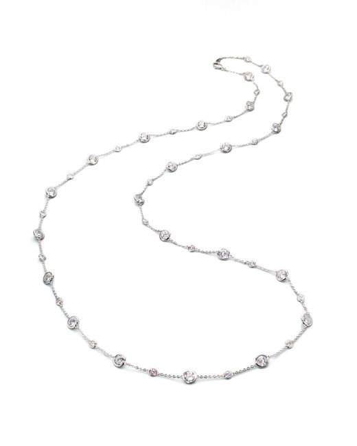 Adriana Orsini | Metallic Stationed Bezel-set Necklace | Lyst
