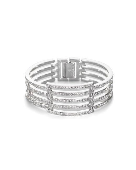 Adriana Orsini | Metallic Open Pave Bracelet | Lyst
