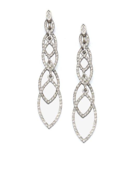 ABS By Allen Schwartz | Metallic Navette Linear Drop Earrings | Lyst