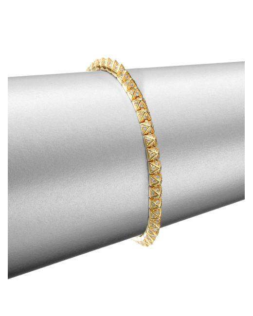 Eddie Borgo | Metallic Pave Crystal Pyramid Tennis Bracelet/goldtone | Lyst