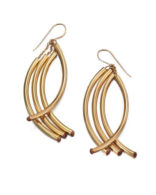 Nest | Metallic Twisted Arc Earrings | Lyst