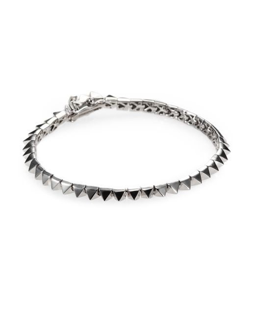 Eddie Borgo | Metallic Pyramid Tennis Bracelet/silvertone | Lyst