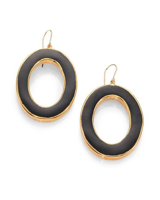 Nest | Black Horn Oval Drop Earrings | Lyst