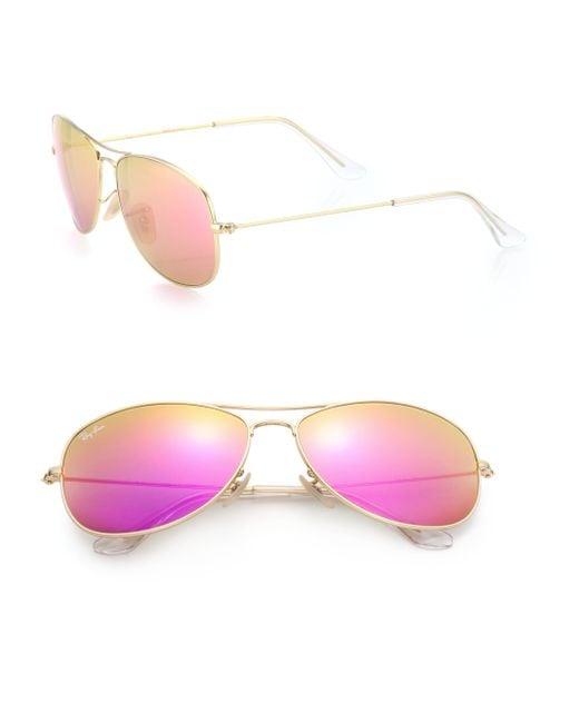 Ray-Ban | Pink New Classic 59mm Aviator Sunglasses | Lyst