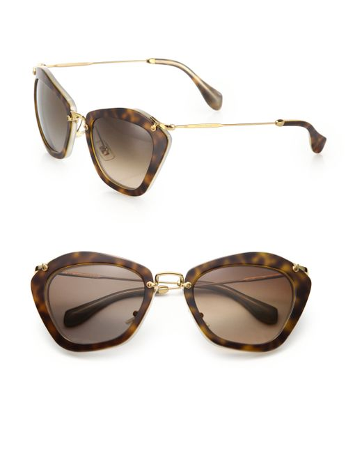 Miu Miu | Brown Noir Catwalk Cat Eye Sunglasses | Lyst