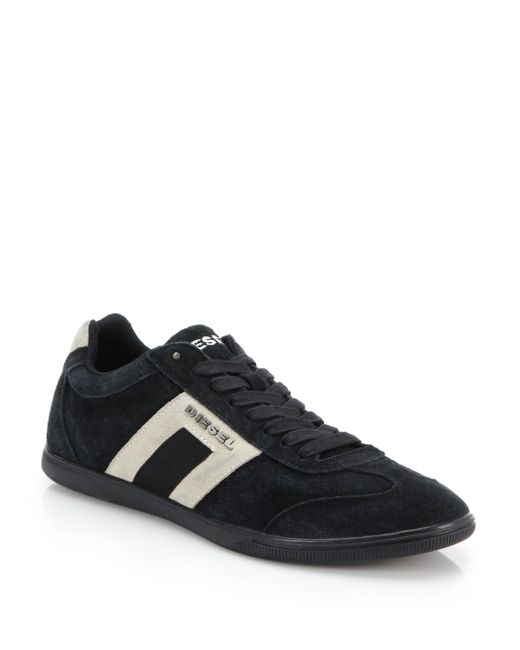 DIESEL | Gray Happy Hour Suede Sneakers for Men | Lyst