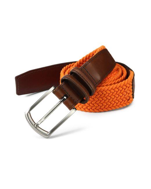 Saks Fifth Avenue   Blue Braided Belt for Men   Lyst
