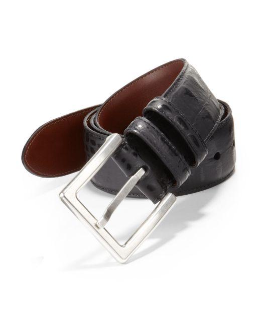 Saks Fifth Avenue   Black Alligator-embossed Leather Belt for Men   Lyst