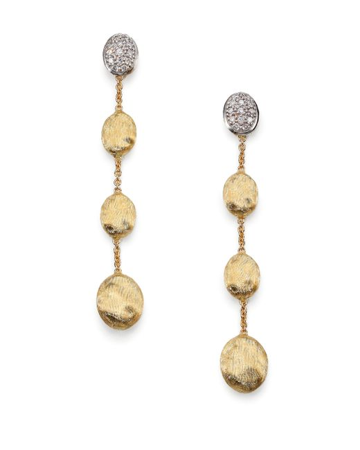Marco Bicego | Metallic Siviglia Diamond & 18k Yellow Gold Drop Earrings | Lyst