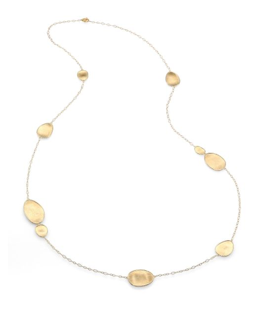 Marco Bicego | Metallic Lunaria 18k Yellow Gold Station Necklace | Lyst